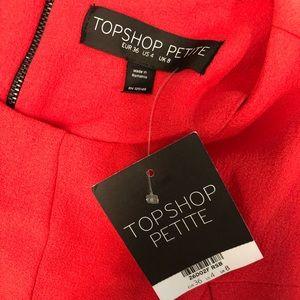 Size 4 Top Shop Petite Dress Orange/red